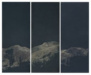 The realm of the Heart No. 41   (triptych) by Zhu Yiyong contemporary artwork