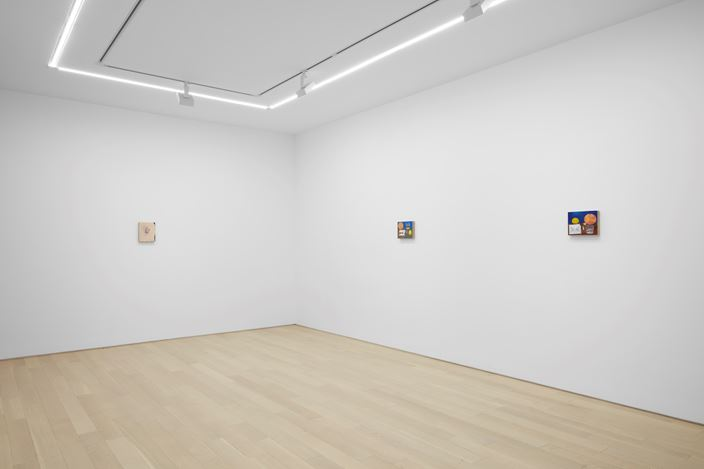 Exhibition view: Michael Hilsman, Pictures of M. and Other Pictures, Almine Rech Gallery, New York (16 January–23 February 2019). Courtesy the artist and Almine Rech. Photo: Matthew Kroening.