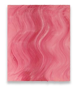 Untitled (Brilliant pink / Mixed white) by Jason Martin contemporary artwork