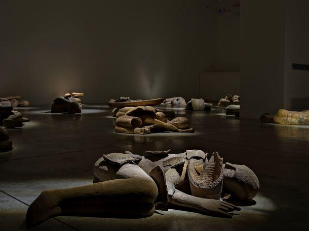Exhibition view: Mimmo Paladino, I Dormienti, Cardi Gallery, Milan (22 February–8 May 2021). Courtesy Cardi Gallery.