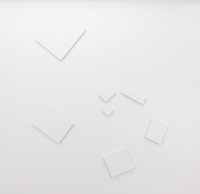 """de-finition/method elements in a spiral / dé-finition/méthode """"éléments sur une spirale"""" by Claude Rutault contemporary artwork"""