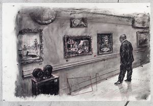 Drawing for City Deep (Soho In Gallery) by William Kentridge contemporary artwork works on paper, drawing