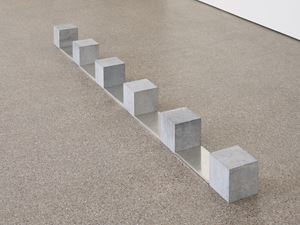 Belgica Tin Train by Carl Andre contemporary artwork