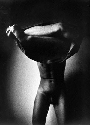 Male Nude 1 by Metka Vergnion contemporary artwork
