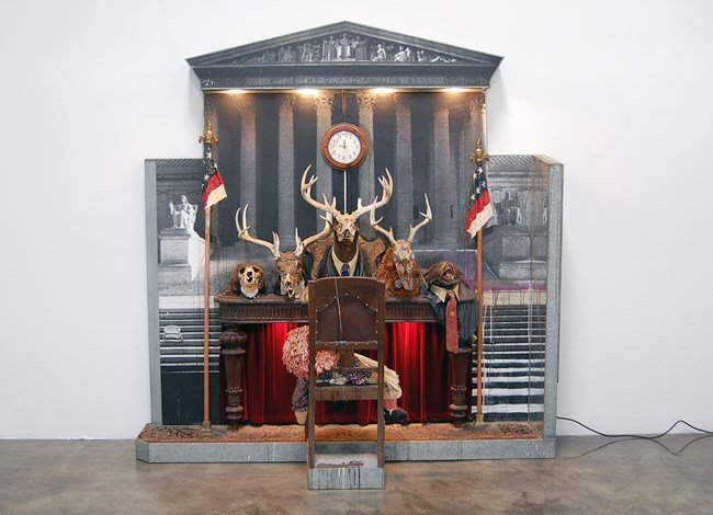 Drawing for the Caddy Court by Edward Kienholz and Nancy Reddin Kienholz contemporary artwork