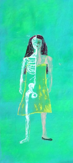 Touch my skeleton by Jenny Watson contemporary artwork
