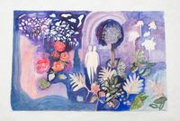 The Lake by Tamaris Borrelly contemporary artwork painting, works on paper, drawing