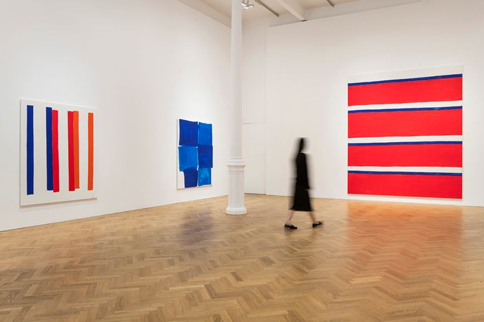 Exhibition view: Beth Letain, Signal Hill,Pace Gallery,6 Burlington Gardens, London (28 June–4 August 2018). © Beth Letain. Courtesy Peres Projects, Berlin and Pace Gallery. Photo: Damian Griffiths.