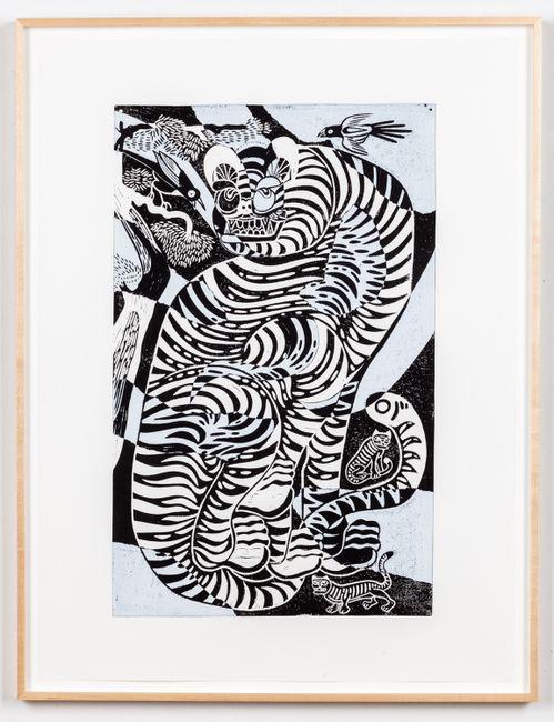 Tsugigami Tiger by Kour Pour contemporary artwork