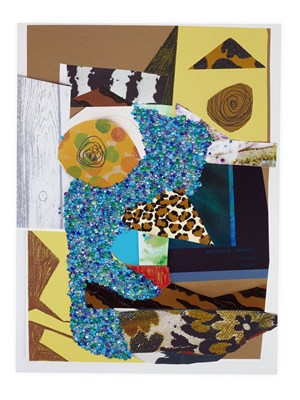 Untitled #11 on Paper by Mickalene Thomas contemporary artwork