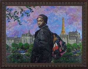 Le vendeur de tours Eiffel (Ibrahima Ramon Magassa) by Pierre et Gilles contemporary artwork