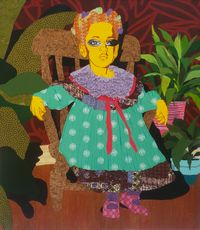 Queen in Training by Cynde Jasmin Coleby contemporary artwork painting, works on paper