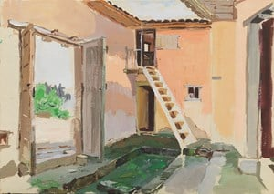 Chairman Mao's Former Residence During Jinggangshan Period 井冈山时期毛主席旧居 by Pang Tao contemporary artwork works on paper