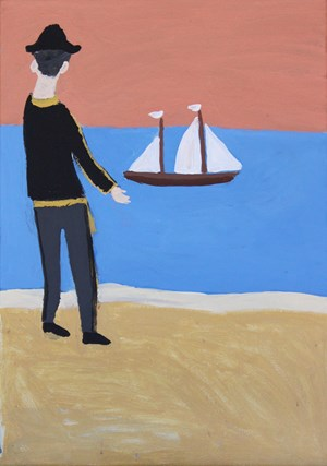 The Endeavour by Vincent Namatjira contemporary artwork