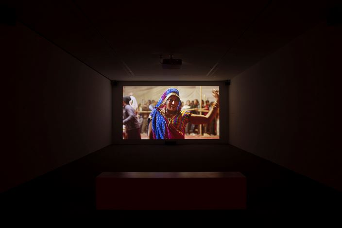 Exhibition view: Guillaume Ziccarelli, The Holy Third Gender: Kinnar Sadhu, Perrotin, New York (9 July–14 August 2020).Courtesy the artist and Perrotin.
