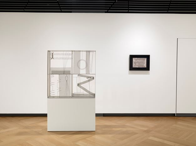 Exhibition view: Group Exhibition,Rome – Milan: Space and Colour, Rhythm and Matter,Mazzoleni, London (1 October–28 November 2020). Courtesy: Mazzoleni, London-Torino.Photo: Todd-White Art Photography.