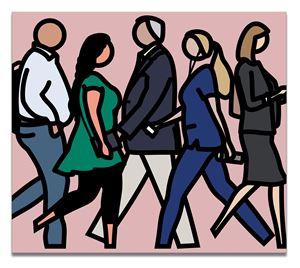 Walking in Boston 2. by Julian Opie contemporary artwork