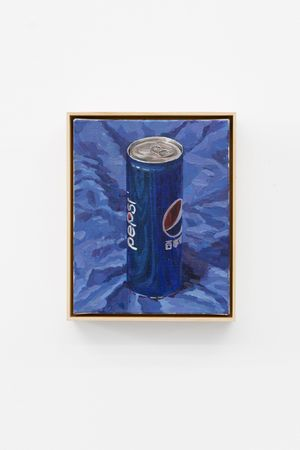 Pepsi On The Blue Cloth by Ge Yulu contemporary artwork painting, sculpture