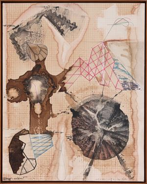 Palindrome Anagram Painting 17 by Jitish Kallat contemporary artwork