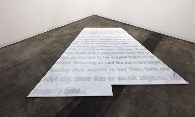 Please Do Not Step/ Loss of a Magnificent Story by Hamra Abbas contemporary artwork