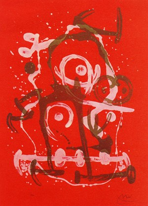Chevauchée rouge brun by Joan Miró contemporary artwork