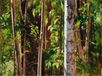 Palm and Saplings, Paynter Creek by A.J. Taylor contemporary artwork painting