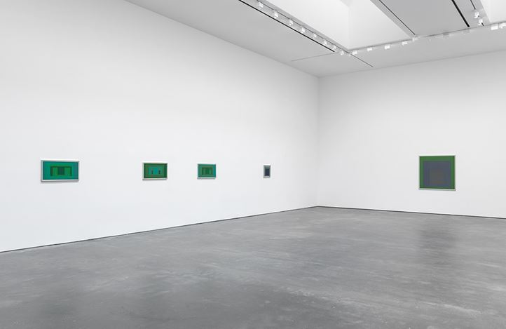 Exhibition view: Josef Albers, Sonic Albers, David Zwirner, 20th Street, New York (8 January–16 February 2019). Courtesy David Zwirner.