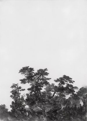 Peak Graced by Pines 松峰圖 by Cao Xiaoyang contemporary artwork