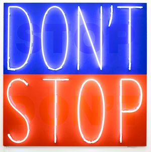 Don't Stop by Deborah Kass contemporary artwork