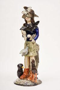 Creatures flying and standing still by Klara Kristalova contemporary artwork sculpture