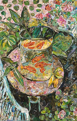 Repro: Hermitage Museum (The Goldfish, after Matisse) by Vik Muniz contemporary artwork