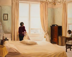 Changing Pillowcases, Mid Morning, March by Caroline Walker contemporary artwork