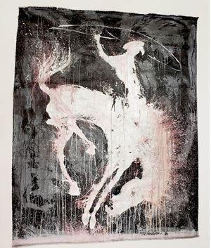 Horse & Rider by Richard Hambleton contemporary artwork