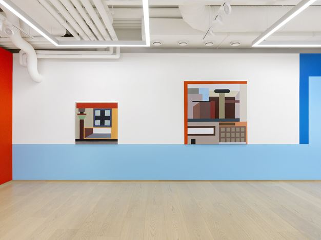 Exibition view: Nathalie Du Pasquier, the strange order of things 2, Pace Gallery, Geneva (20 January–18 March 2020). © Nathalie Du Pasquier. Courtesy Pace Gallery. Photo: Annik Wetter.