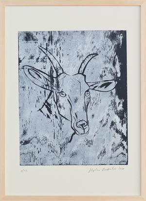 Ziege / Goat by Stephan Balkenhol contemporary artwork
