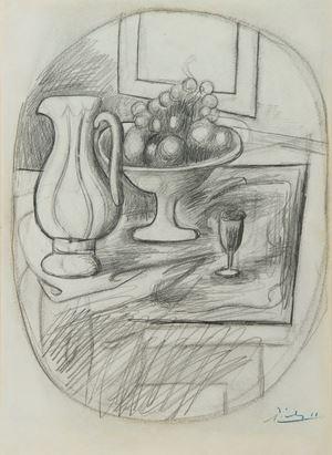 Compotier avec poire et pomme by Pablo Picasso contemporary artwork