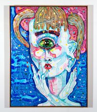 i would rather be nothing by Del Kathryn Barton contemporary artwork painting