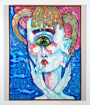 i would rather be nothing by Del Kathryn Barton contemporary artwork