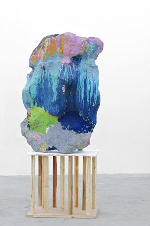 Untitled (large sculpture with can) by Franz West contemporary artwork