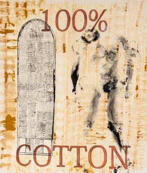 100% Cotton by Khaleb Brooks contemporary artwork painting