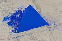 Tetrahedron (Pyramid) by Lothar Baumgarten contemporary artwork sculpture