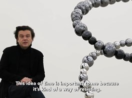 Video of the exhibition 'Dark Matters' by Jean-Michel Othoniel