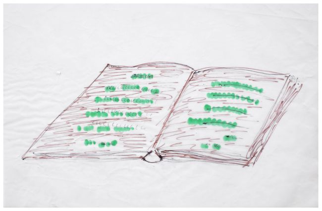"""Project for an Intervention on the landscape: Book-Field (""""AgriCulture"""") by Mirella Bentivoglio contemporary artwork"""