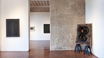 Contemporary art exhibition, Amina Ahmed, The Estate Of Anwar Jalal Shemza, Parul Thacker, Black Beyond Sight at Jhaveri Contemporary, Mumbai, India