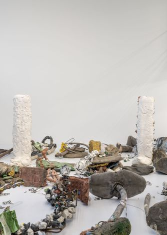 Exhibition view: Michael Dean,Garden of Delete, Barakat Contemporary, Seoul (31 March–30 May 2021).