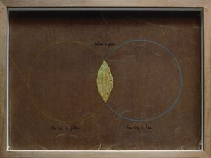 Leaf (Two Circles) by Juan Zamora contemporary artwork