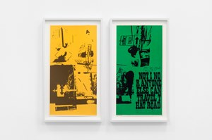 road signs (part 1 and 2) by Corita Kent contemporary artwork