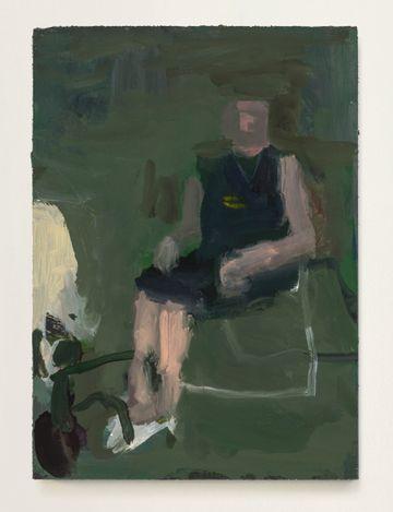 Grandma Jean #1, 2021. Oil on panel, 7 x 5 in.  Courtesy Thomas Erben Gallery.
