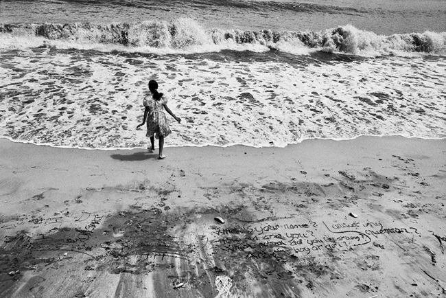 Beach of Vaung Tau, formerly Cap Saint Jacques, where the majority of the boat people departed, Vietnam by Sebastião Salgado contemporary artwork