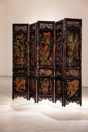 Abstract Expressionist Screen by Su Meng-Hung contemporary artwork painting, installation
